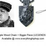 Black Maple Wood Chain + Biggie Piece (LEGENDS SERIES)