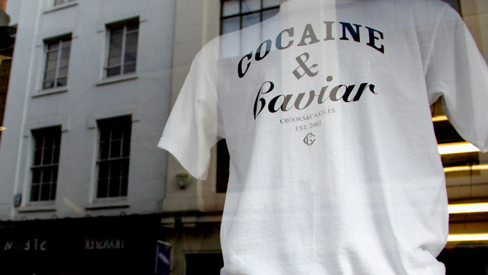 Crooks & Castles Cocaine & Caviar T shirt white
