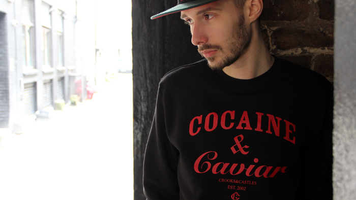 Crooks & Castles Cocaine & Caviar sweatshirt black red