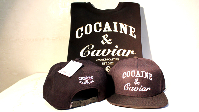 Crooks & Castles Cocaine & Caviar sweatshirt and snapback black
