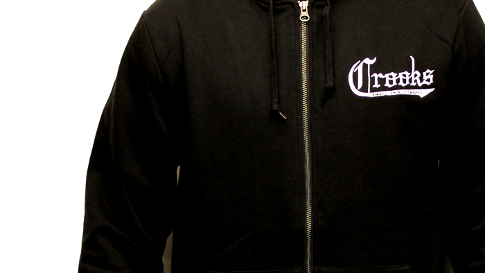 Crooks & Castles american nightmare hoodie black