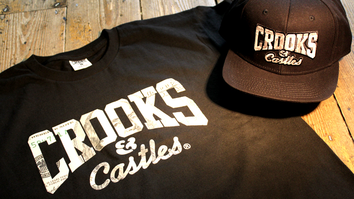 Crooks & Castle Currency Core T shirt & snapback