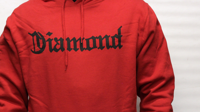 Diamond Supply for life hood red