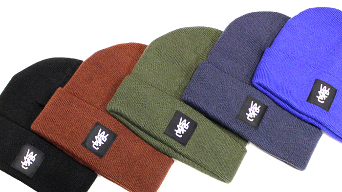 WeSC pancho beanie black, snorkel blue, burgundy, midnight blue, forest green.