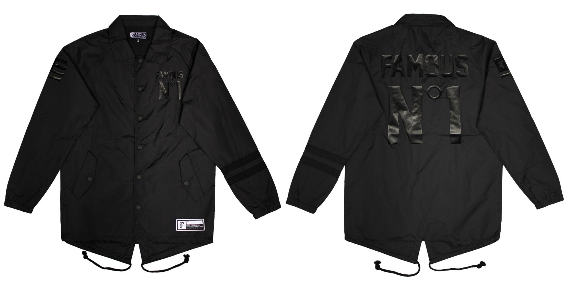Famous Stars & Straps Public Enemy Coaches Jacket (Black) £84.90