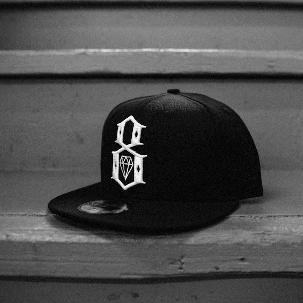 REBEL8 Standard Issue Logo New Era Fitted Cap Black