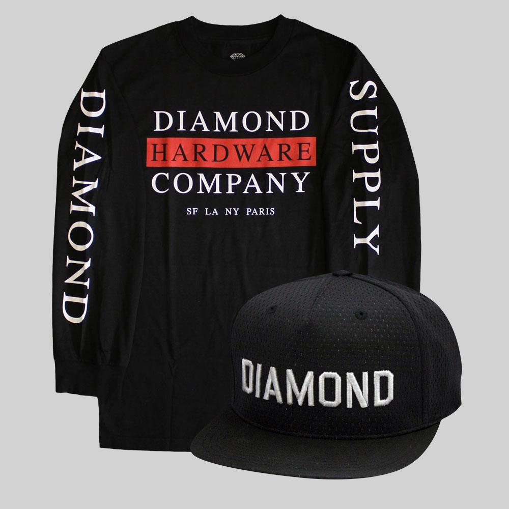 Diamond Supply Co Hardware Stack T-shirt £39.99 X Diamond Supply Co Jackson Snapback £37.50
