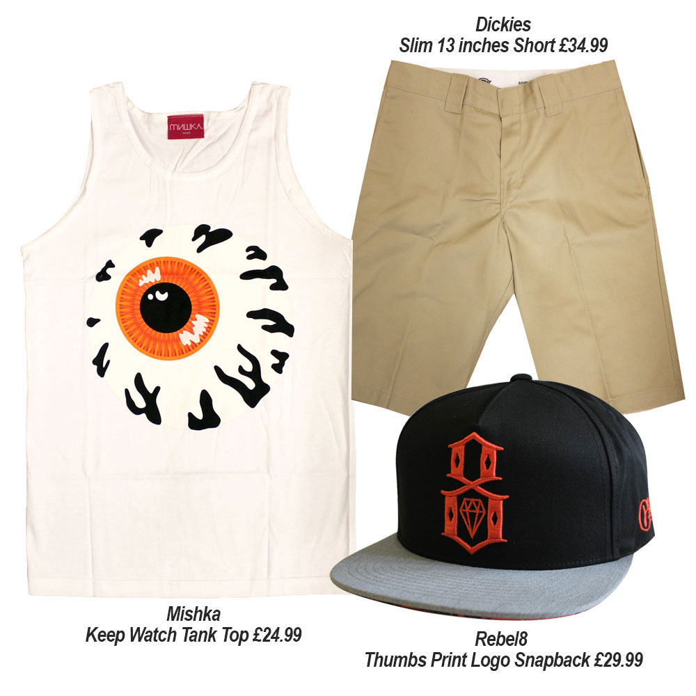Streetwear Summer Outfits with Dickies Mishka NYC and Rebel8