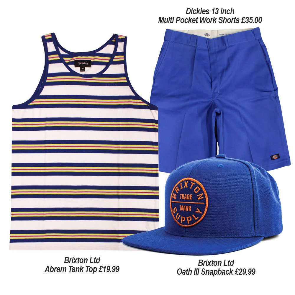 Streetwear Summer Outfits with Dickies and Brixton Ltd