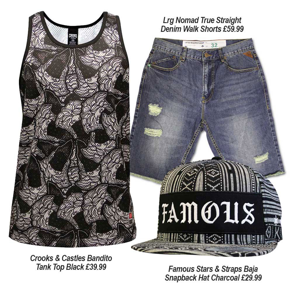 Streetwear Summer Outfits with Crooks & Castles, Famous SAS, and Lrg Clothing
