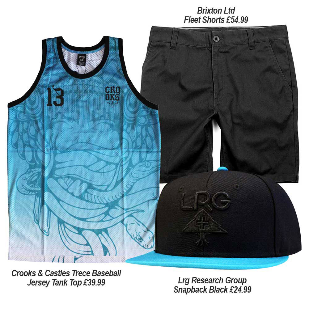 Streetwear Summer Outfits with Crooks & Castles, Brixton Ltd, and Lrg Clothing