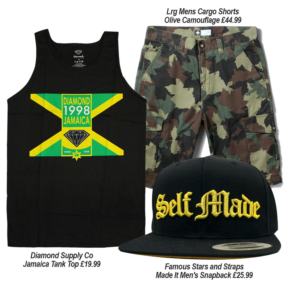 Streetwear Summer Outfits with Famous SAS, Diamond Supply Co, and Lrg Clothing