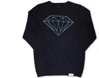 diamond supply co brilliant sweatshirt in navy blue