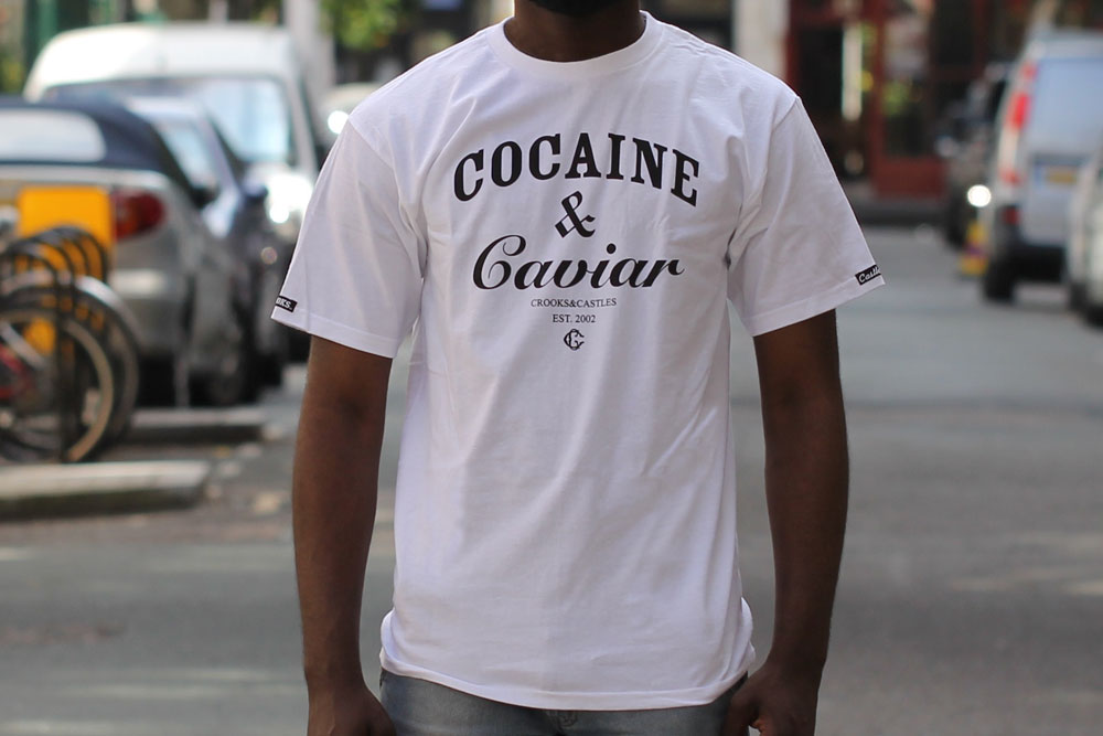 Crooks and Castles Cocaine & Caviar T-shirt White Black