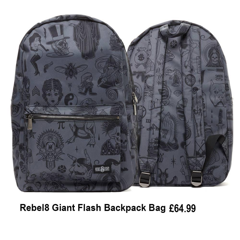 Rebel8 Giant Flash Backpack Bag