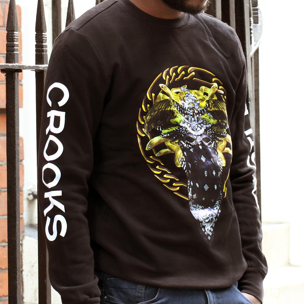 Crooks & Castles Cultivated Lux Medusa Sweatshirt