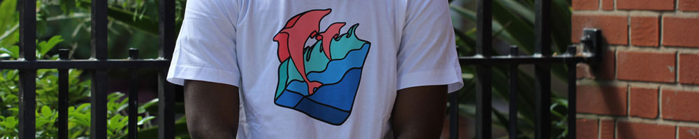 Pink Dolphin Clothing Banner