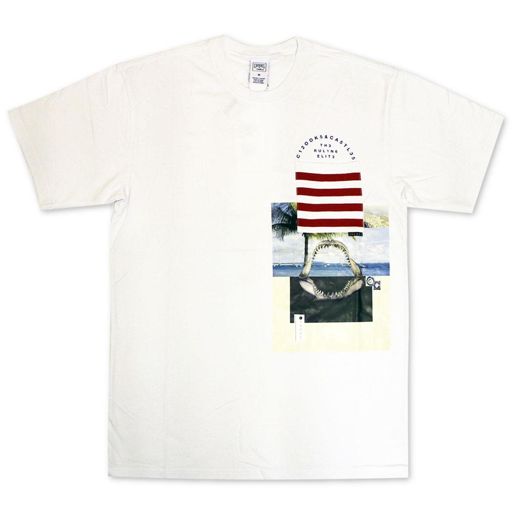Crooks & Castles Merz Pocket T-Shirt White