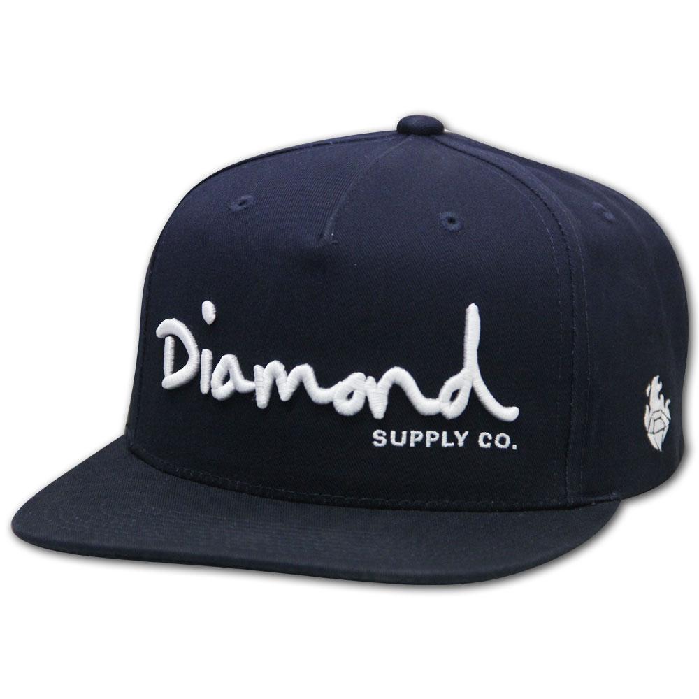 Diamond Supply Co OG Script Unstructured Snapback Navy