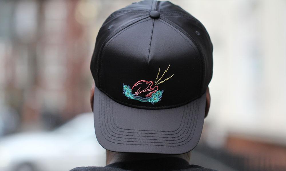 Pink Dolphin Souvenir Satin Structured Snapback Black