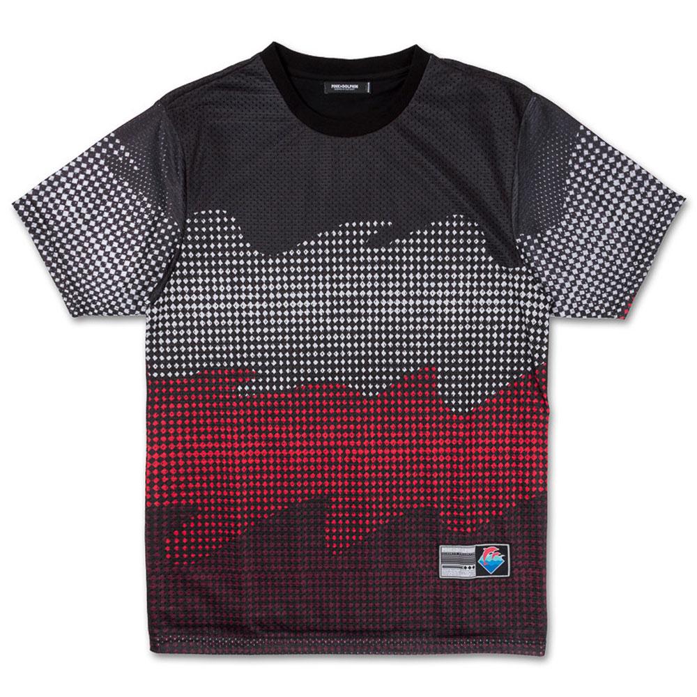 Pink Dolphin Waves Halftone T-Shirt Black