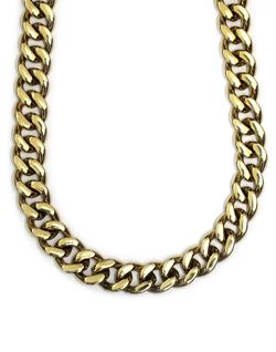 Gold Plated XL Cuban Link Curb Chain