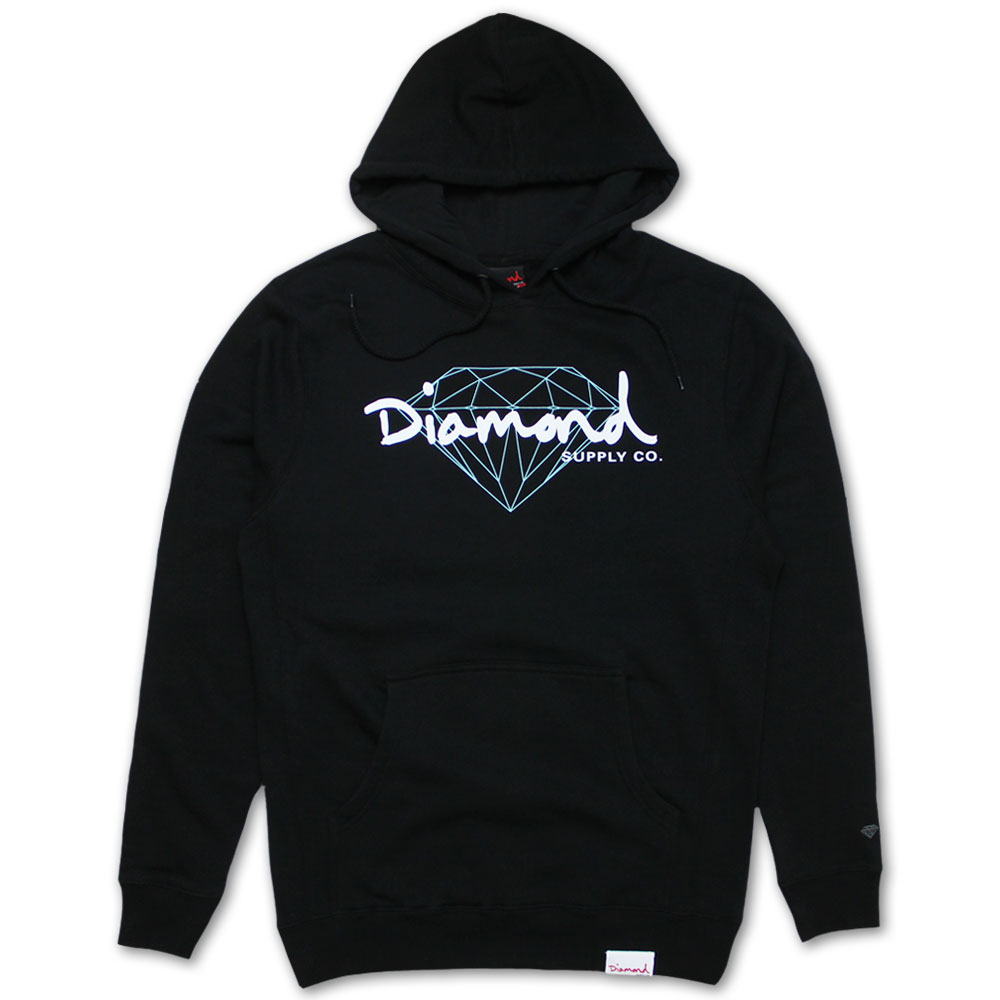 Diamond Supply Co Brilliant Script Hoodie Black
