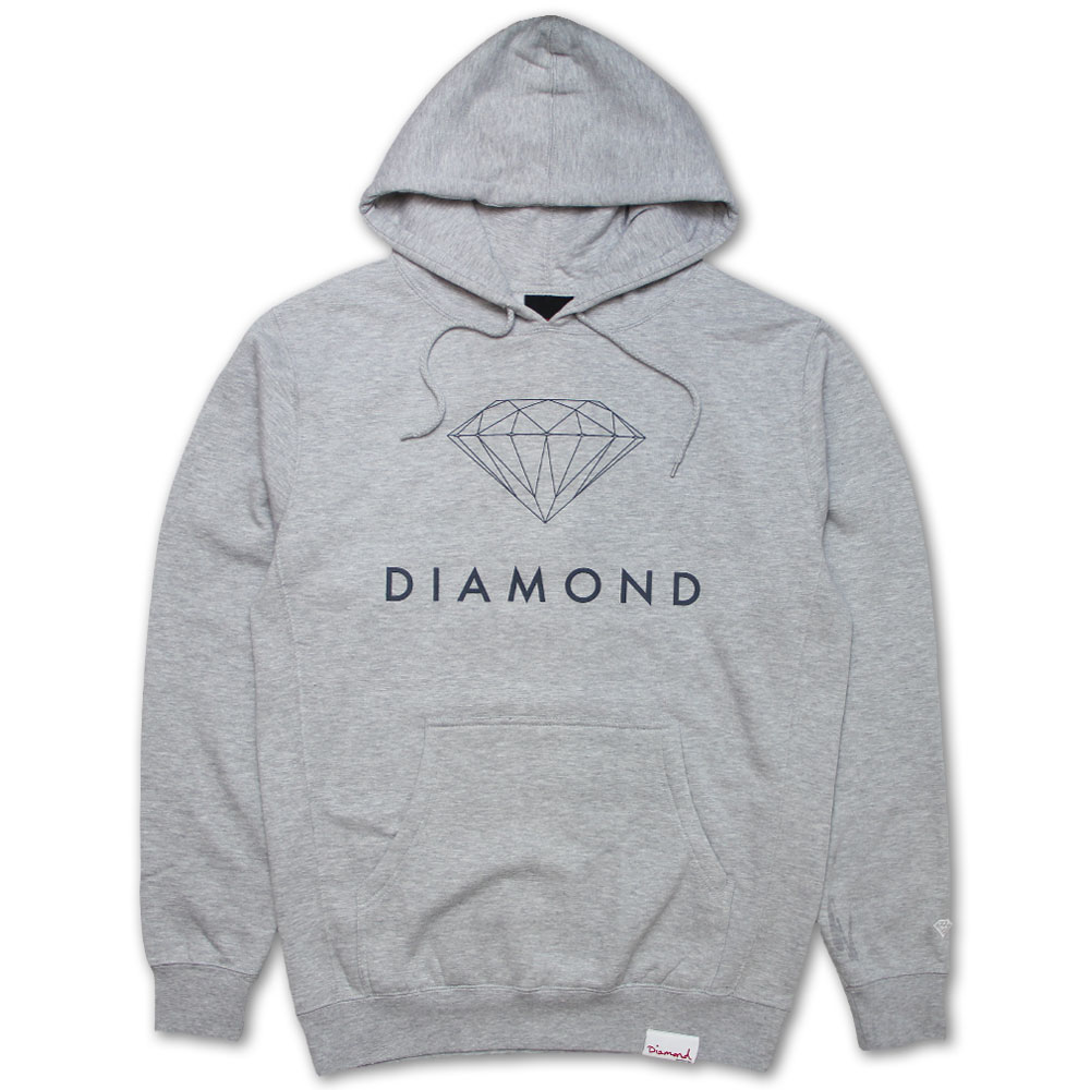 Diamond Supply Co Futura Sign Hoodie Grey