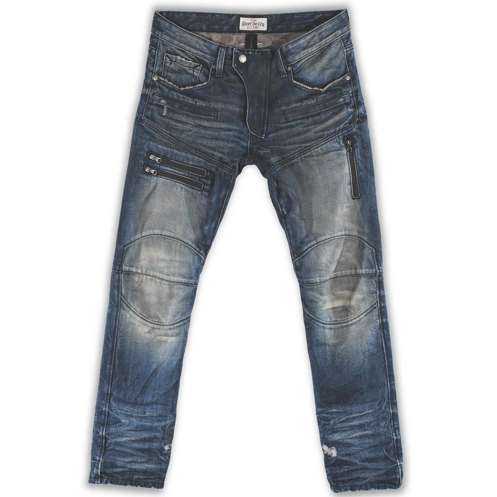 Rivet De Cru Capri Breeze Wash Moto Tapered Jeans