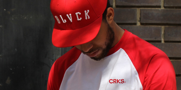 crooks and castles greco stripe henley raglan t-shirt white red and black scale grand slam snapback