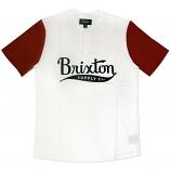 Brixton Ltd Gomez 3/4 Sleeve Henley T-Shirt White Red
