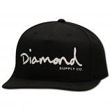 Diamond Supply Co OG Script Snapback Black White