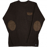 Dickies Clinton Knitted Sweater Chocolate Brown