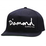 Diamond Supply Co OG Script Snapback Navy Blue