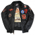 Top Gun Official B-15 Men's Flight Bomber Jacket with Patches