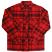 Brixton Archie Flannel Shirt Red Burgundy