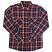 Brixton Grady Flannel Shirt Deep Blue