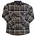 Brixton Flynn Flannel Shirt Navy Khaki