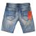 Rivet De Cru Polar Blue Denim Shorts