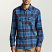 Brixton Bowery Flannel L/S Shirt Blue Navy