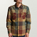Brixton Bowery Flannel Long Sleeve Shirt Rust Copper