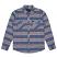 Brixton Bowery Long Sleeve Flannel Shirt Slate Blue