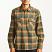 Brixton Archie Long Sleeve Flannel Shirt Green Plaid