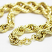 "XL Gold Plated Hip Hop Rope Chain Dookie 20mm x 30"" Hollow High Quality"