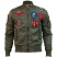 Top Gun MA-1 Nylon Bomber Jacket with Patches Olive