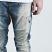 Embellish NYC Holmes Biker Denim Jeans Stone Wash