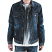 Embellish Calico Denim Jacket in Indigo