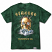 Diamond Supply Co Gold Skull Tie Dye Tee Green