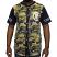 Crooks & Castles Slugger SS Baseball Jersey Military Woodland Camo
