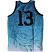 Crooks & Castles Men's Knit Tank Trece Bball Jersey - Tiffany